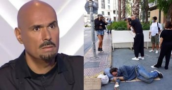 Δημήτρης Σκουλός: Η απαράδεκτη φωτογράφηση διπλά σε άστεγο στο κέντρο της Αθήνας προκαλεί θύελλα αντιδράσεων