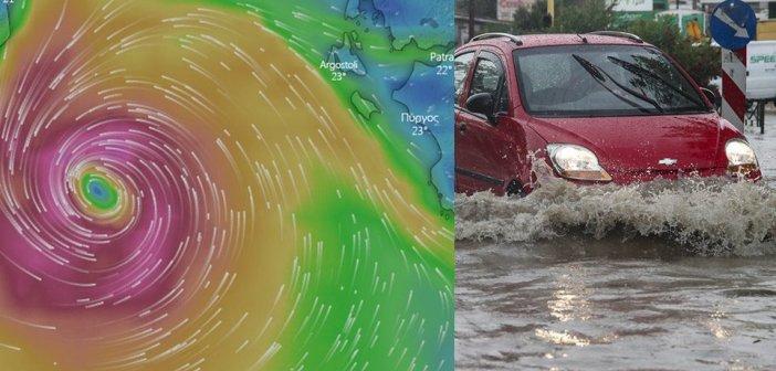 «Ιανός»: Τα τέσσερα σενάρια για την πορεία της καταιγίδας – Σε επιφυλακή και η Αιτωλοακαρνανία