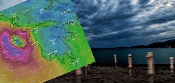 """Ιανός: Στο """"μάτι"""" του κυκλώνα Ζάκυνθος, Κεφαλονιά, Ιθάκη – """"Επισκέφτηκε"""" και τη Ναύπακτο (VIDEO)"""