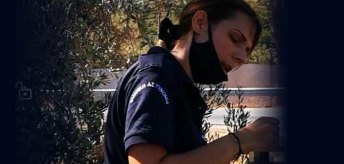 Φρουρός στη Μόρια το πρώην μοντέλο Ειρήνη Μελισσαροπούλου