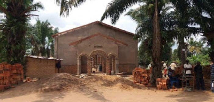 Η πρόοδος των εργασιών στον υπό ανέγερση Ι.Ν. Αγίου Παϊσίου του Αγιορείτου στην Κανάγκα του Κονγκό Αφρικής