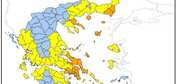 Υψηλός κίνδυνος πυρκαγιάς στη Δυτική Ελλάδα αύριο Τρίτη