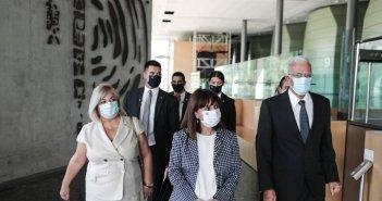Σακελλαροπούλου: Πάγια επιδίωξη ο τερματισμός της τουρκικής κατοχής στην Κύπρο