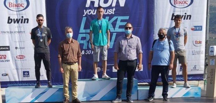 «Χρυσός» ο Αγρινιώτης αθλητής Κώστας Σταμούλης στο «Ioannina Lake Run 2020»