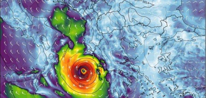 Επιδείνωση με τοπικές καταιγίδες αύριο Πέμπτη – Νεότερα στοιχεία σχετικά με τον μεσογειακό κυκλώνα