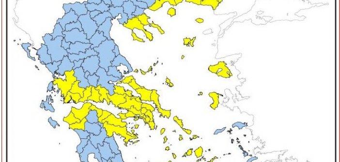 Υψηλός ο κίνδυνος πυρκαγιάς στην Δυτική Ελλάδα το Σάββατο 12 Σεπτεμβρίου 2020