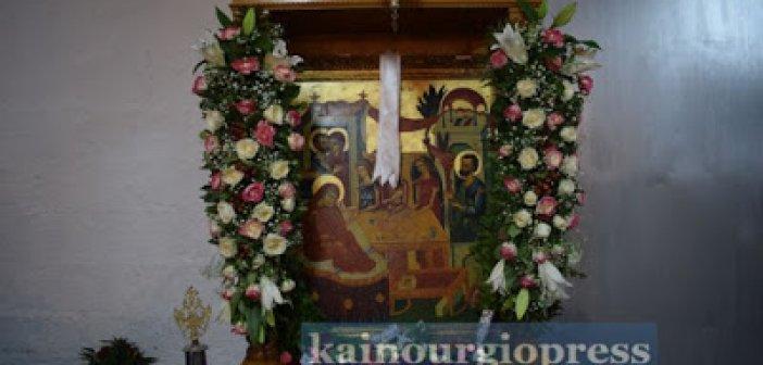 """Γιορτάζει η πολιούχος του Καινουργίου, Παναγία """"Η Χρυσοχεριά"""""""