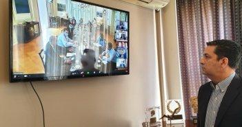 Σε teleconference με Μητσοτάκη και Αγγελοπούλου ο Δήμαρχος Αγρινίου