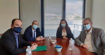 Συνάντηση του Λ. Δημητρογιάννη με εκπροσώπους του Πανελλήνιου Συνδέσμου Επιχειρήσεων Προστασίας Περιβάλλοντος