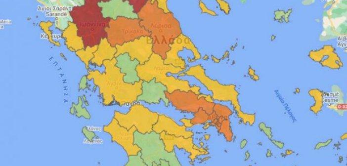 Κορωνοϊός – Δύο περιοχές από πράσινες γίνονται κίτρινες και εννιά πορτοκαλί