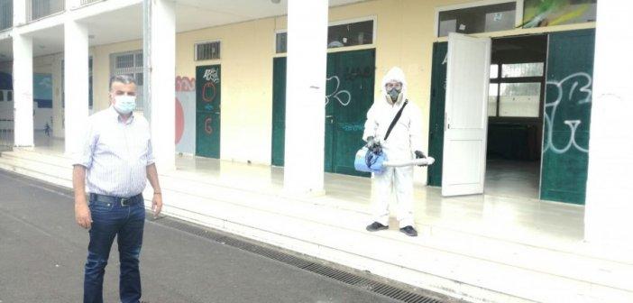 Με απόφαση δημάρχου πραγματοποιήθηκε απολύμανση στο 4ο Γυμνάσιο Αγρινίου (ΦΩΤΟ)