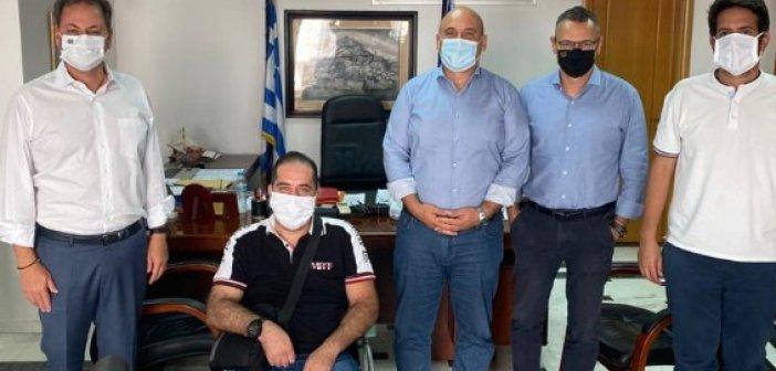 Συνάντηση Σπήλιου Λιβανού με τον Δήμαρχο Ναυπακτίας Βασίλη Γκίζα
