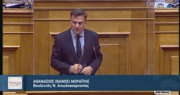 O Θ. Μωραΐτης για την Πρόταση Δυσπιστίας κατά του Υπουργού Οικονομικών