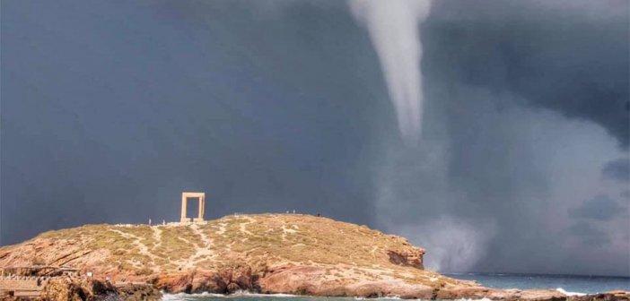 Υδροστρόβιλος στη Νάξο: Σπάνιο θέαμα(Βίντεο & φωτογραφίες)