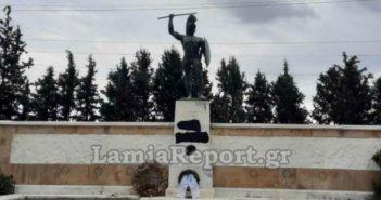 Βεβήλωσαν το άγαλμα του Λεωνίδα στις Θερμοπύλες