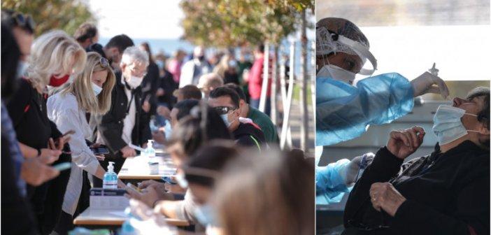 Σοκ: Πληροφορίες ότι το 10% των rapid tests στη Θεσσαλονίκη βγαίνουν θετικά