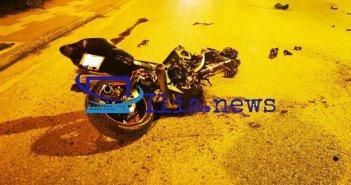 Αμαλιάδα: Νεκρή μία 23χρονη, σοβαρά τραυματίας ο οδηγός της μηχανής