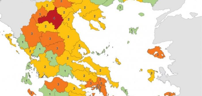Κορωνοϊός: Αυτός είναι ο νέος χάρτης με τα επιδημιολογικά φορτία στην Ελλάδα