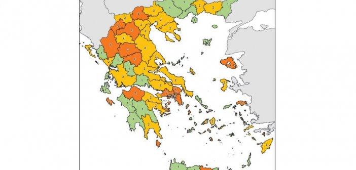 Ο χάρτης της υγειονομικής ασφάλειας της χώρας – Στο επίπεδο 2 η Αιτωλοακαρνανία – Αναλυτικά τα μέτρα για το νομό