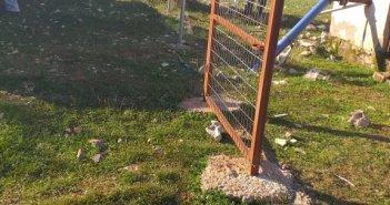Μπαμπίνη: Άγνωστοι ξήλωσαν την περίφραξη του αντλιοστασίου