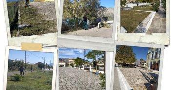 Δράσεις καθαριότητας και ευπρεπισμού στην Κοινότητα Μύτικα, από τους συμβασιούχους οκτάμηνης διάρκειας του Δήμου Ξηρομέρου.