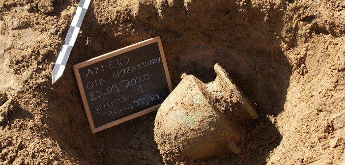 Δυτική Ελλάδα – Ηλεία: Οκτώ τάφοι προϊστορικών χρόνων σε οικόπεδο