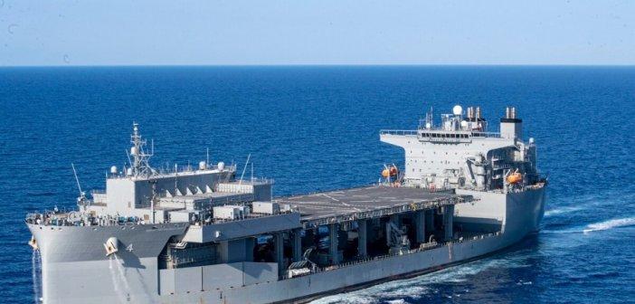 Στο Πλατυγιάλι Αστακού πλοίο του Πολεμικού Ναυτικού της Αμερικής