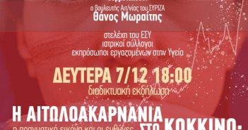 """Διαδικτυακή εκδήλωση από τον ΣΥΡΙΖΑ με θέμα η Αιτωλοακαρνανία στο """"κόκκινο"""" – Η πραγματική εικόνα και οι ευθύνες"""""""