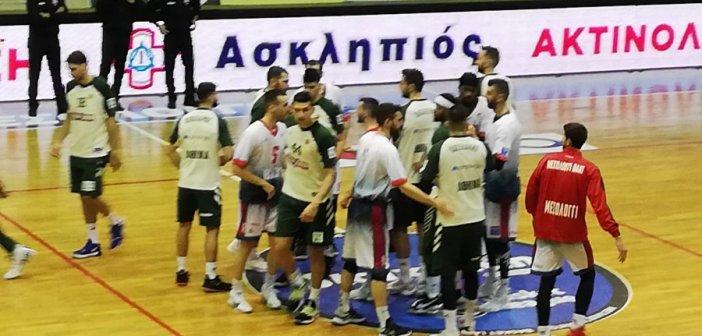 Χ. Τρικούπης – Παναθηναϊκός: Η είσοδος των ομάδων στον αγωνιστικό χώρο του ΔΑΚ Αγρινίου (ΦΩΤΟ)