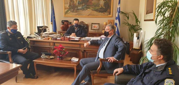 Αγρίνιο: Συνάντηση του Δημάρχου με τον Διοικητή της 6ης ΥΠΕ και τον Αστυνομικό Διευθυντή