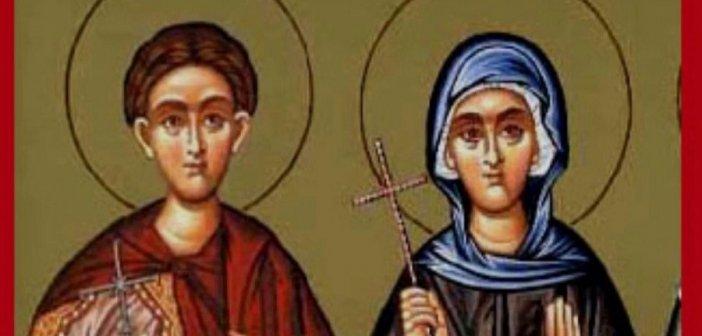 19 Δεκεμβρίου: Οσίας Αγλαΐας της Ρωμαίας και του Αγίου Άρεως μάρτυρος
