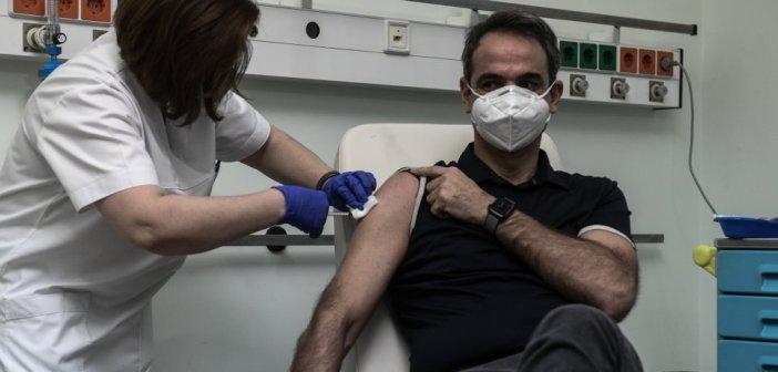 Επιχείρηση «Ελευθερία»: Τη δεύτερη δόση του εμβολίου έκανε ο Μητσοτάκης