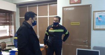 Ενημέρωση από την ΕΜΑΚ στον δήμαρχο Αγρινίου για τα προβλήματα από την έντονη κακοκαιρία
