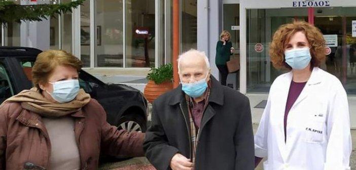Υπερήλικας Αρτινός 103 ετών έλαβε τη 1η δόση του εμβολίου