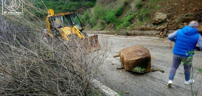 Πτώση βράχων στο Μακρυνόρος – Κατολισθήσεις και πτώση δέντρων στον Ορεινό Βάλτο (pics,video)