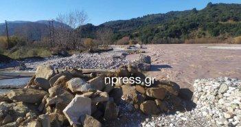 Ναυπακτία: Κατέρρευσε κι άλλο μέρος του αντιπλημμυρικού έργου – Απειλείται η υδροδότηση χωριών (video)