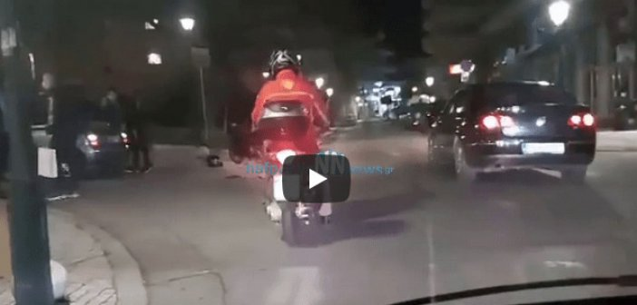 Ναύπακτος: Τροχαίο ατύχημα χθες στο κέντρο της πόλης(Video)