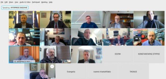 Εμπορoβιομηχανικός Σύλλογος Μεσολογγίου: Τηλεδιάσκεψη για τη Διαγώνια  Οδό