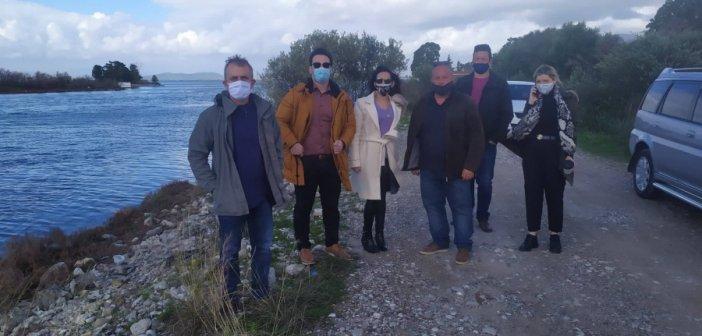 Μεσολόγγι: Επίσκεψη Αντιπεριφερειάρχη στον Ναυτικό Όμιλο για την κατασκευή προπονητικού κωπηλατοδρομίου