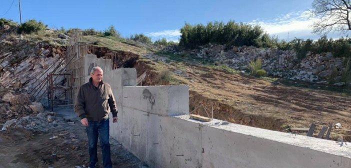 Θέρμο: Κατασκευή τοιχείου αντιστήριξης και αντιπλημμυρικής προστασίας του Ι.Ν. Αγίων Αποστόλων