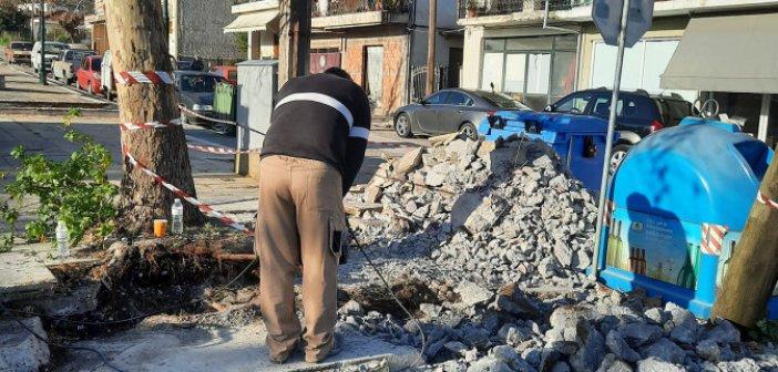 Αγρίνιο: Διάσωση πλάτανου στις Παππαδάτες από συνεργείο του Δήμου