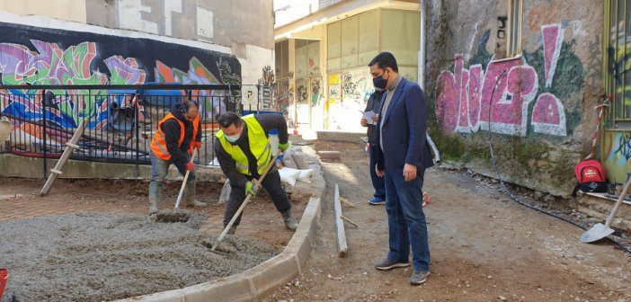 Aυτοψία του Δημάρχου Αγρινίου στις εργασίες ανάπλασης της οδού Αντωνοπούλου [εικόνες]