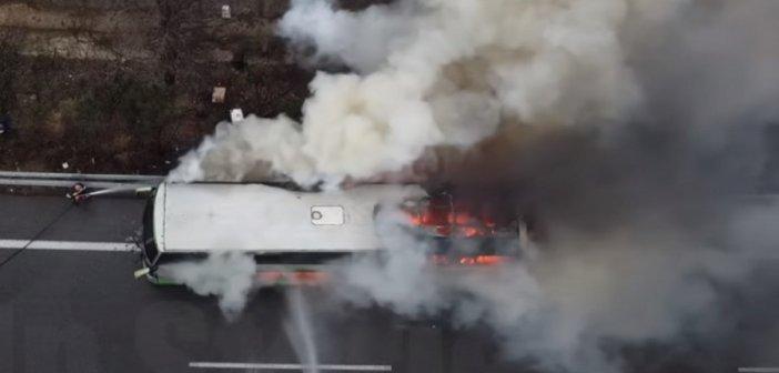Ε.Ο. Αθηνών-Λαμίας : Φωτιά σε λεωφορείο των ΚΤΕΛ – Τρόμος για τους 48 επιβάτες