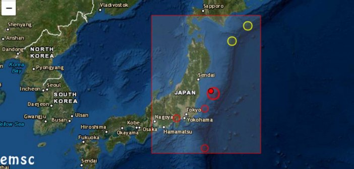 Μεγάλος σεισμός 7.1R στην Ιαπωνία – Συναγερμός για τσουνάμι στη Φουκουσίμα