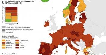 Άσχημα νέα από το ECDC: Τέλος το πράσινο χρώμα για τη χώρα μας – Στο «κόκκινο» όλη η Στερεά Ελλάδα