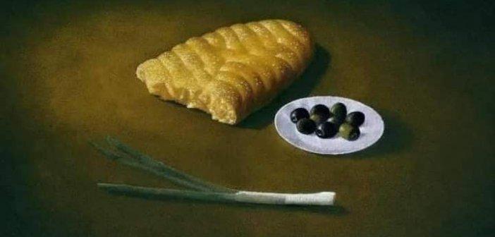 Με πίνακα του ζωγράφου Χρήστου Π. Γαρουφαλή ευχήθηκε ο Νεκτάριος Φαρμάκης