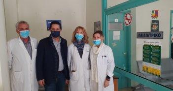 Τρίτη εμβολιαστική γραμμή στο Κ.Υ. Αγρινίου-Επίσκεψη Γιώργου Παπαναστασίου
