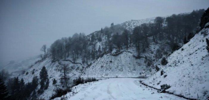 Χιόνισε πάλι στην Ορεινή Ναυπακτία – Εντυπωσιακές εικόνες