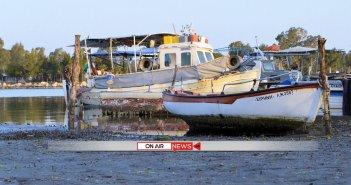 Μεσολόγγι: Η άμπωτη εξαφάνισε τη θάλασσα (ΦΩΤΟ&ΒΙΝΤΕΟ)