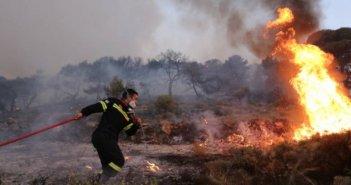 Φωτιά στην Αιγιάλεια – Επιχειρούν 29 πυροσβέστες